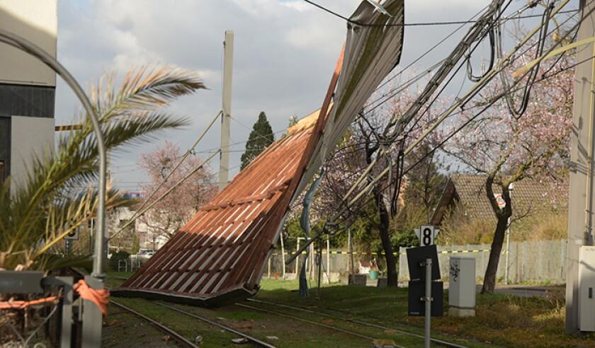 Storm Depression Eberhard in Baden-Württemberg