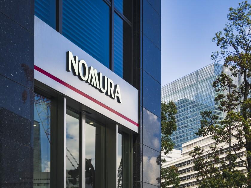 NOMURA Holdings Japanese financial holding company Banking financial services Headquarters at Nihonbashi Tokyo Japan - APR 18, 2019