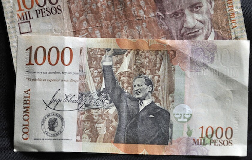 Colombia, peso, LatAm, currency, note, bill, FX