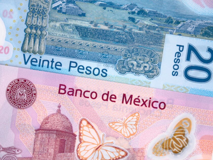 Mexico, peso, 20 pesos, currency, FX, LatAm, notes, 575