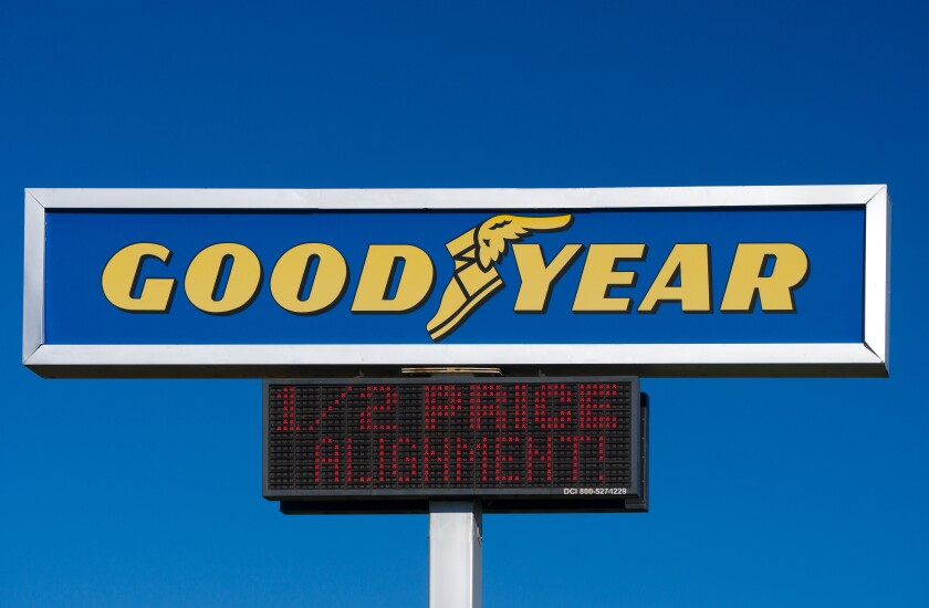 Good Year Tire Sign and Logo