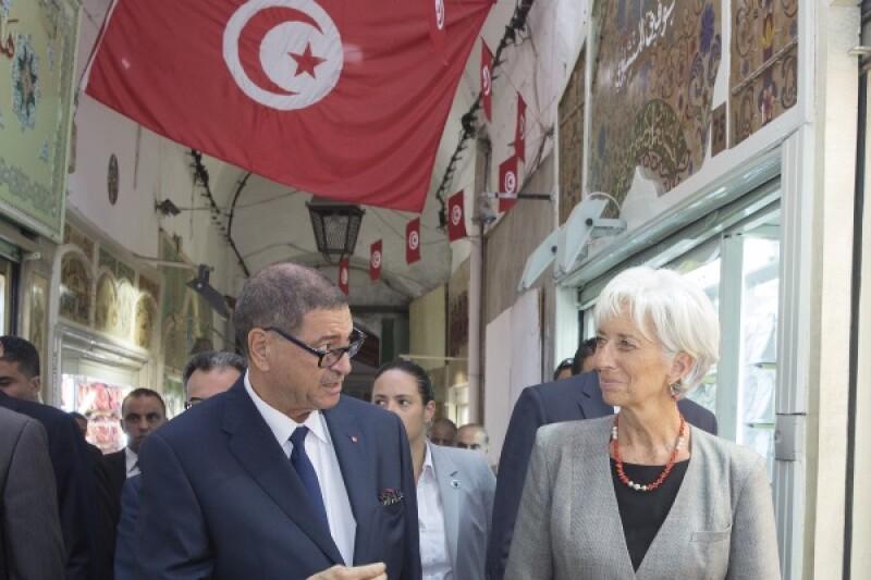 Tunisia IMF Lagarde Essid-R-600