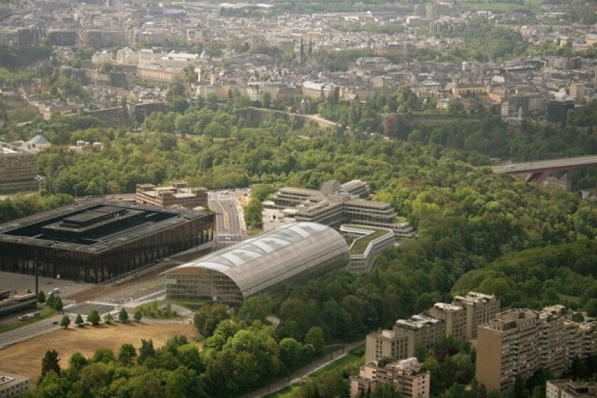 EIB headquarters aerial European Investment Bank from media gallery 575x375