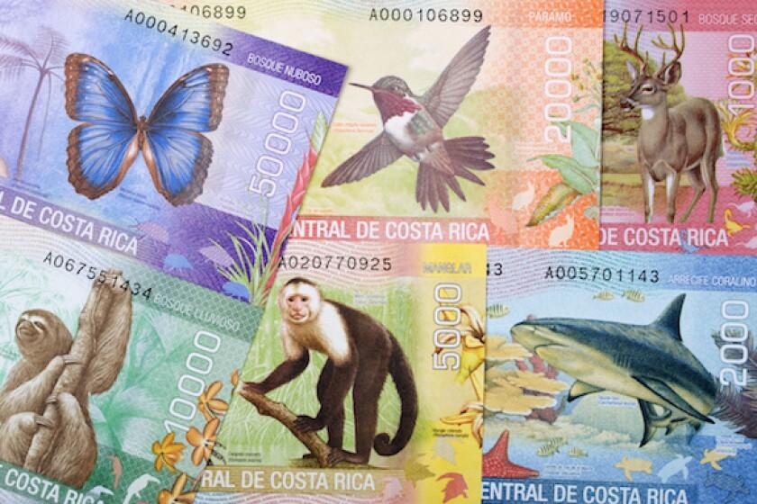 Costa Rica, Colon, Cash, bill, note, LatAm, Central America, 575