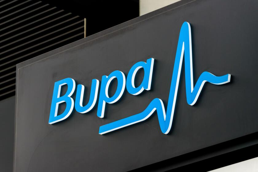 BUPA health center in Canary Wharf, London. Bupa is one of the UK's leading healthcare specialists