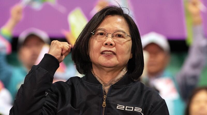 Tsai Ing-wen Campaigns as Taiwan Election Approaches