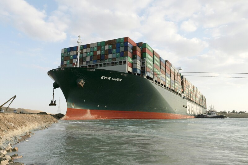 EGYPT-SUEZ CANAL-STUCK CONTAINER SHIP-REFLOATING