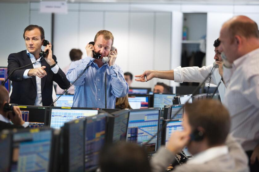 BGC Voice + Electronic Brokerage company trading floor , where traders compete on prices, City of London, UK