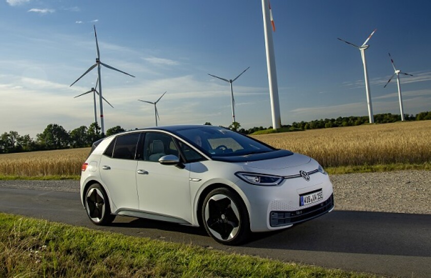 Volkswagen VW electric ID3 car from co for use 21Aug20 575x375