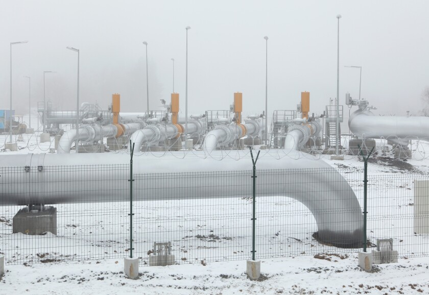Delivery station at the natural gas pipeline. Possibly Czech Republic