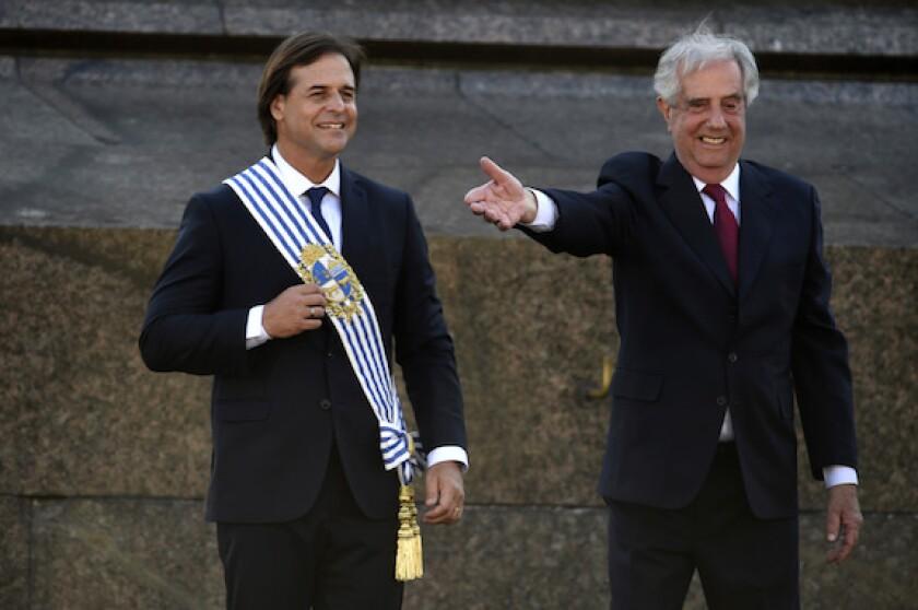 Uruguay, Montevideo, presidents, election, Luis Lacalle Pou, Tabare Vasquez, LatAm, 575