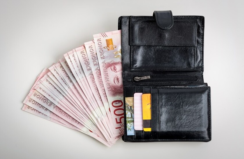 Wallet with Swedish money