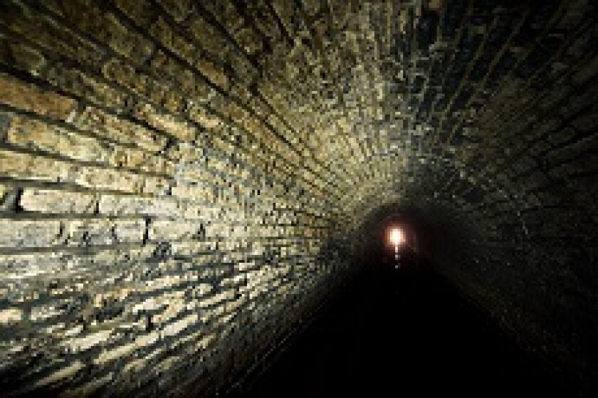 Light at end of tunnel hope doubt from Alamy 230x150