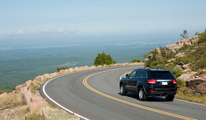 Driving Cadillac Mountain