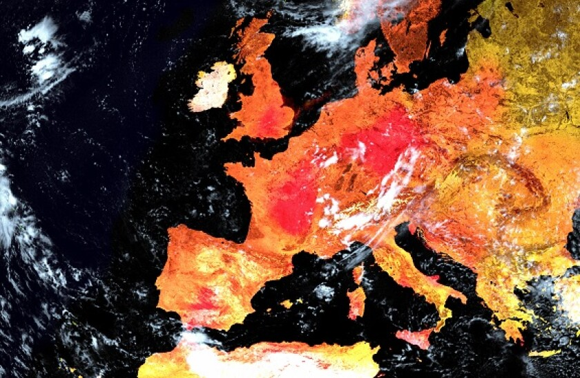Earth in heatwave from space global warming climate from Adobe 7Jul20 575x375