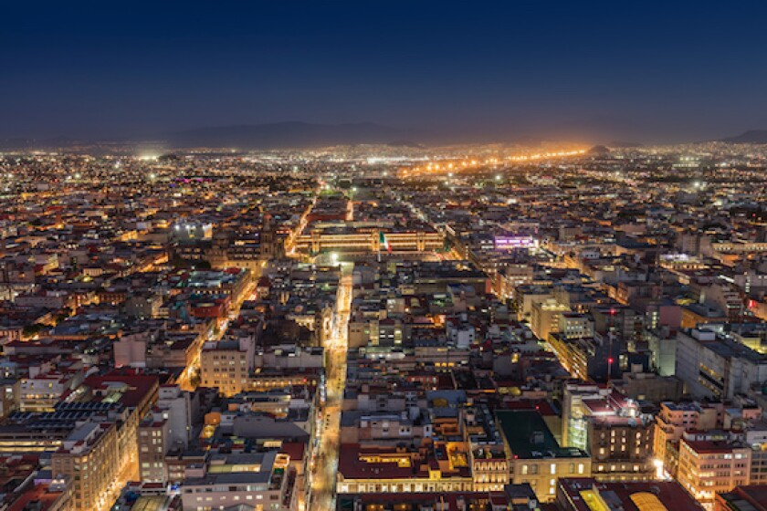 Mexico City, night time, lights, city, LatAm 575