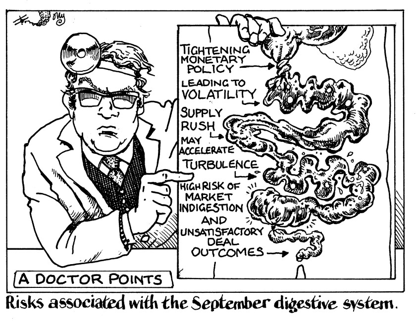 Risks associated with the September digestive system