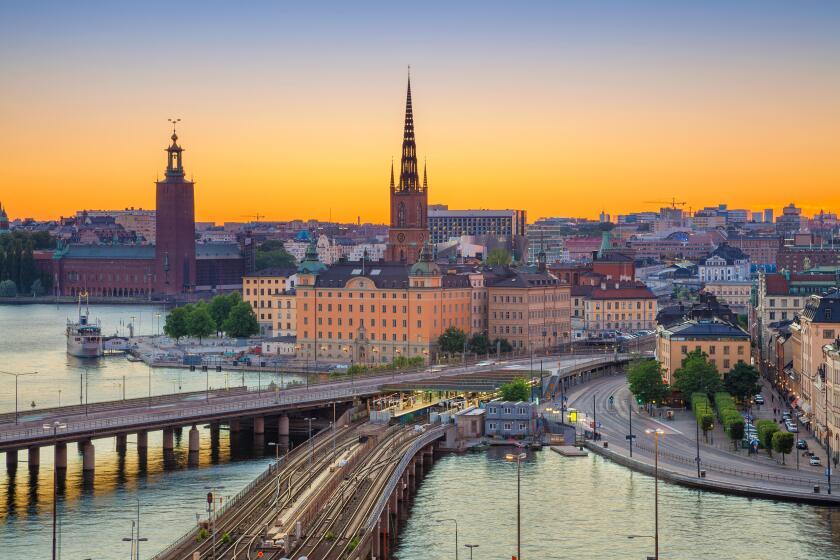 Stockholm. Cityscape image of Stockholm, Sweden during sunset.