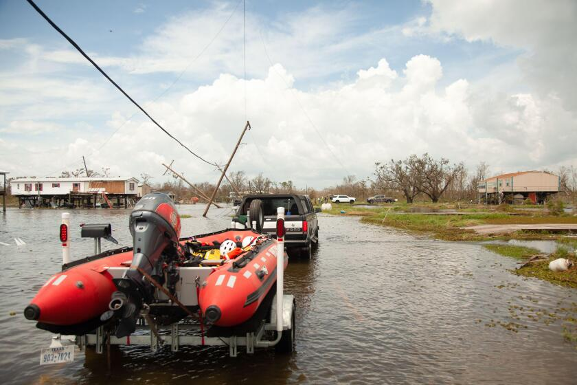 McKinney, Texas, USA. 31st Aug, 2021. Aug 31, 2021-Cajun Navy travels to Pointe-aux-Chenes, Louisiana, to perform rescues and debris cleanup after Hurricane Ida slammed into Louisiana. (Credit Image: © Leslie Spurlock/ZUMA Press Wire)