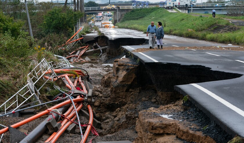 The Aftermath of Typhoon Hagibis in Mito City, Japan - 15 Oct 2019