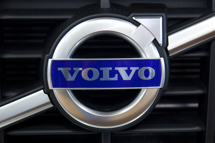 Volvo emblem on a car