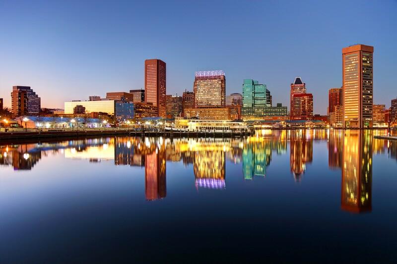 Downtown Baltimore Maryland Skyline