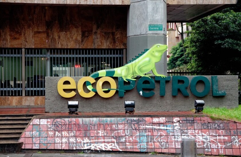 corporate office bearing the Ecopetrol logo, Bogota, Colombia