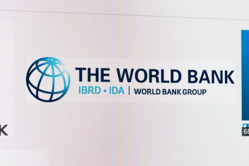 Screenshot of the world bank logo