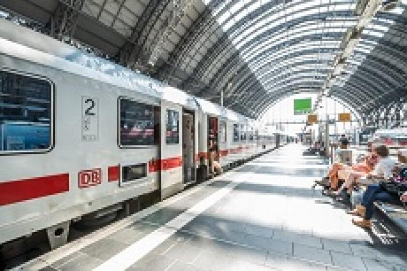 Deutsche Bahn in Station