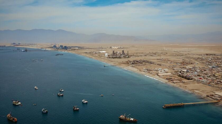 Chile, Antofagasta, Mejillones, Angamos, coal, sea, pacific, AES Gener, power, generation, LatAm, 575