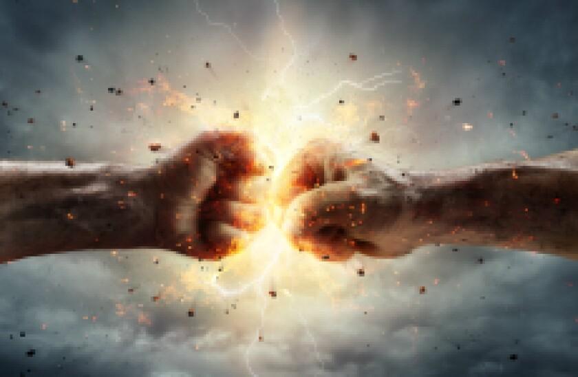 Conflict fist clash boxing fight fotolia