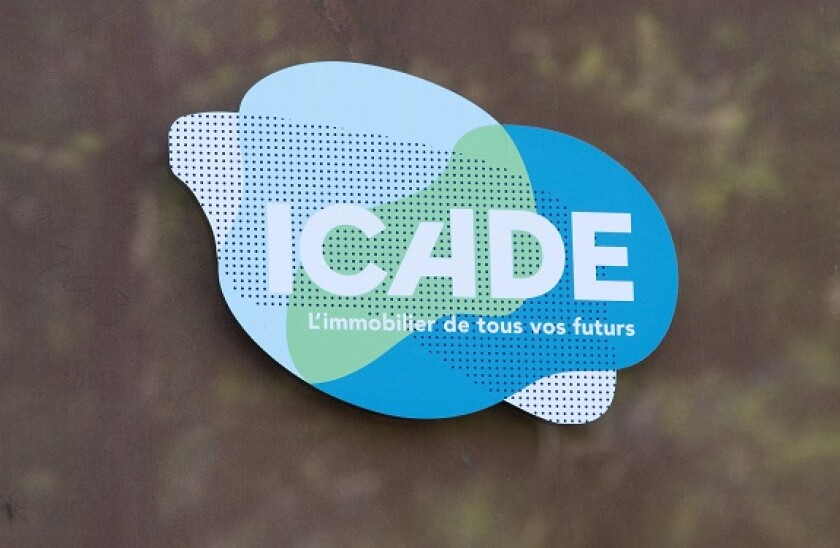 A logo of ICADE, on May 06, 2020 in Charenton-le-Pont, France. Photo by David Niviere/ABACAPRESS.COM