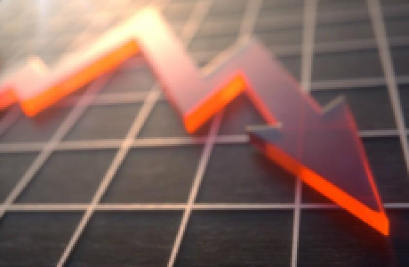 stocks down negative adobe stock