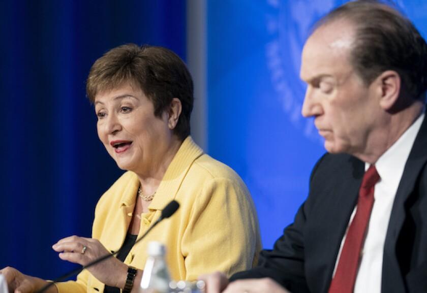 Kristalina Georgieva, David Malpass, World Bank, IMF, multilateral, development banks, Washington, LatAm