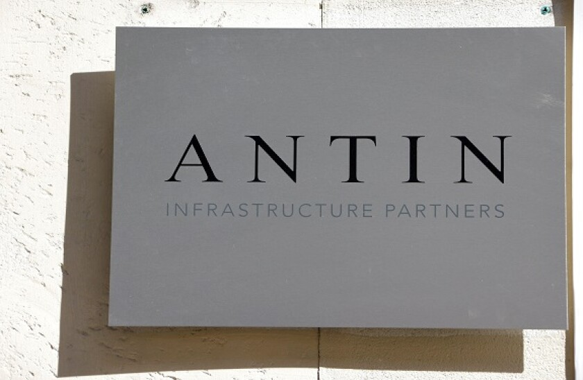 The logo of French investment firm Antin Infrastructure Partners is seen in front of the company's offices in Paris, France, September 6, 2021. REUTERS/Eric Gaillard