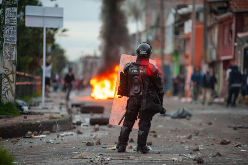 Thousands of people rise to the streets of Bogota during the third day of protests against the Tax Reform of president Ivan Duque resulting in clashes