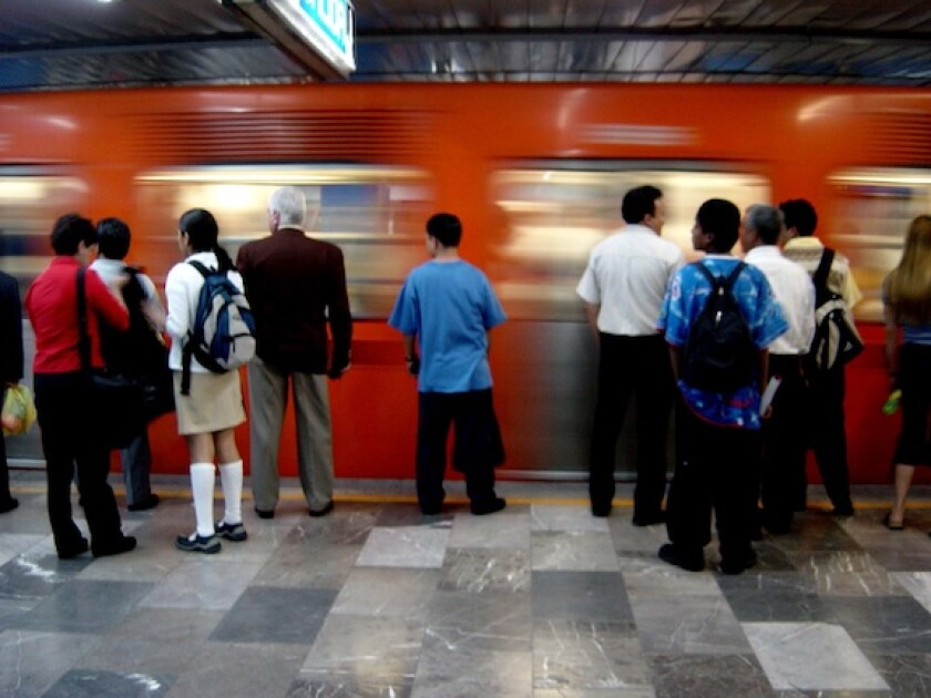 Mexico, metro, underground, train, crowded, people, LatAm, transport, 575