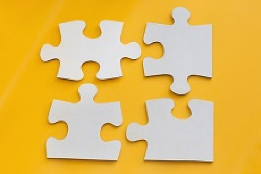 Four part piece jigsaw from Adobe 230x150