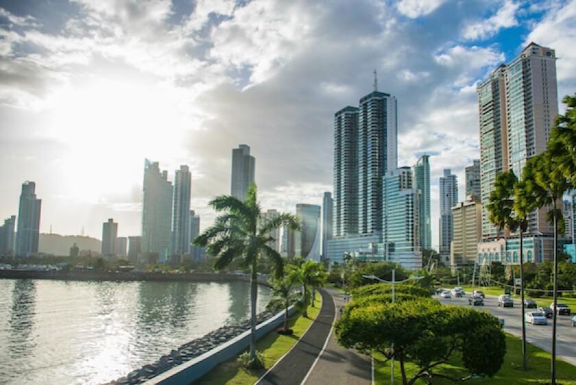 Panama City, Banistmo, Panama, skyscrape, cityscape, ocean, LatAm, 575