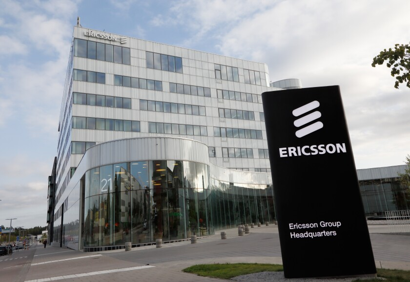 Stockholm, Sweden - September 14, 2016: The Ericsson group headquarters office building located in the Stockholm suburban district of Kista.