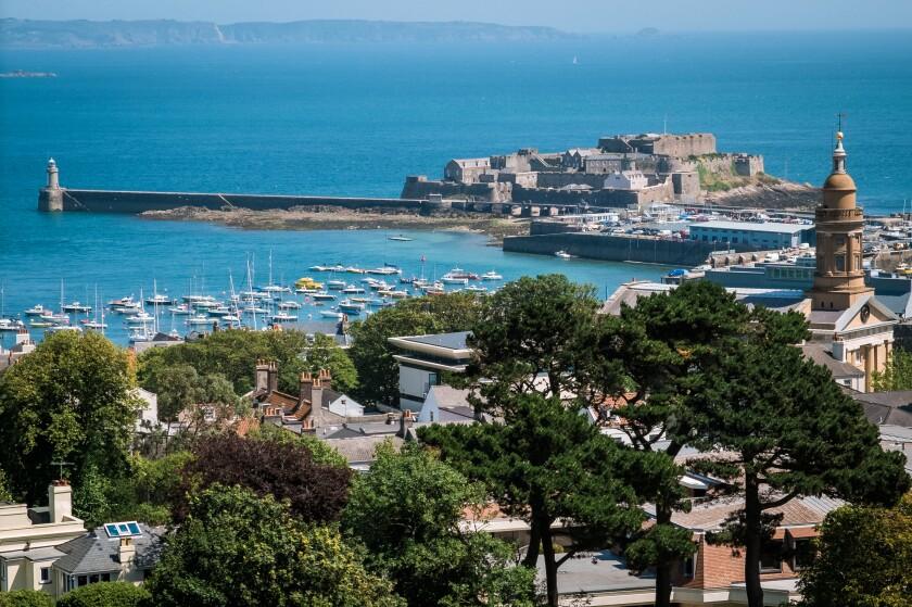 Saint Peter Port, viewed from Elizabeth Tower