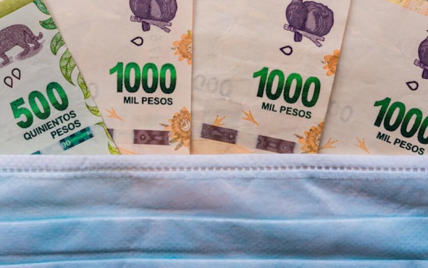Argentina, peso, restructuring, default, 575, LatAm, coronavirus, face mask