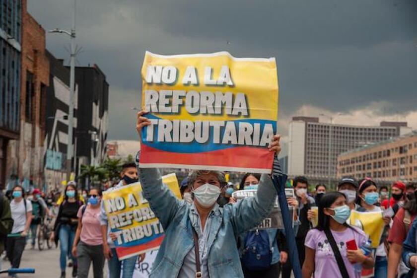 colombia, tax reform, protests, bogota, LatAm, 575