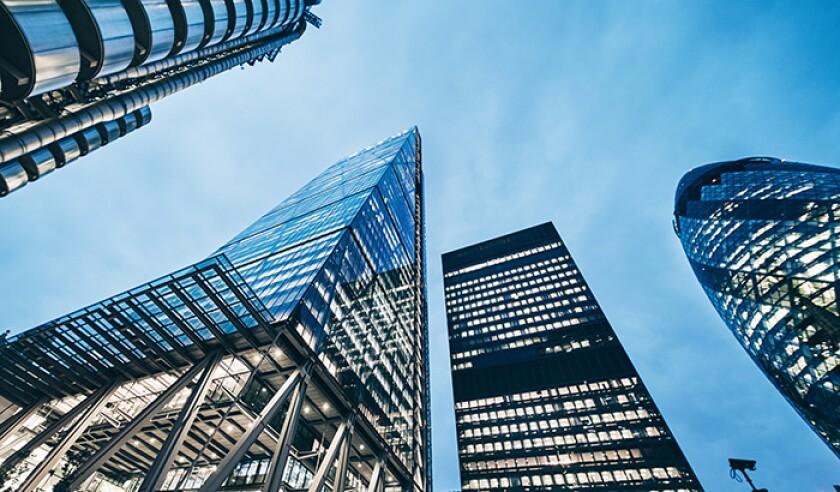 Futuristic Buildings in Business District