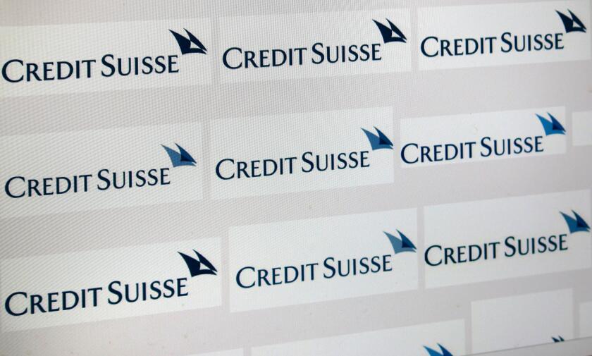 "Loge der Marke ""Credit Suisse"", Berlin."