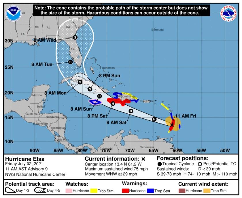 Hurricane Elsa track NOAA 2 July.jpg