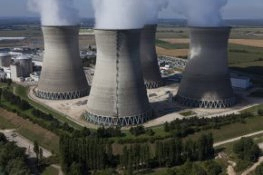 EDF Bugey nuclear plant towers