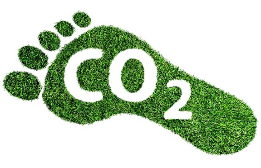 Carbon footprint CO2 from Alamy 15Apr21 575x375