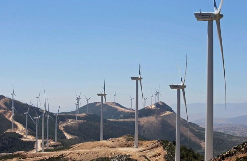Saudi Acwa Power-generating windmills are pictured in Jbel Sendouq, on the outskirts of Tangier, Morocco, June 29, 2018. REUTERS/Youssef Boudlal