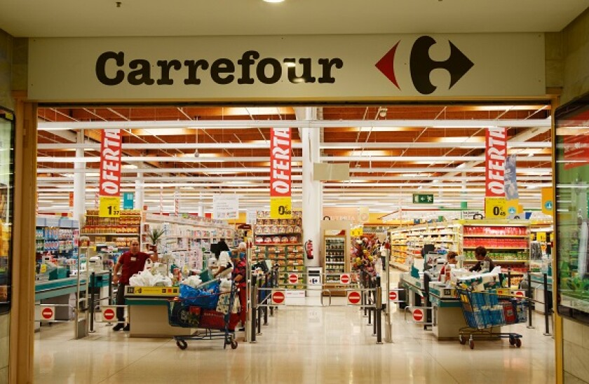 Carrefour supermarket in Spain